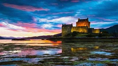 Scotland Castle Oil Kyle 4k Lochalsh Eilean