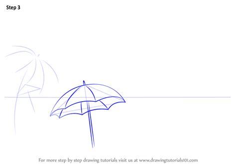 learn   draw beach scene nature step  step