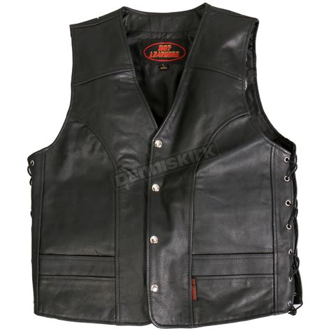 Cowhide Leather Vest by Leathers Side Lace Cowhide Leather Vest Vsm1030s