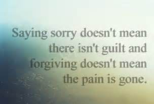 Forgiveness Quotes and Saying Sorry