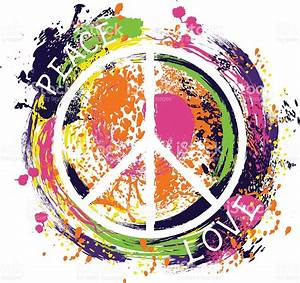 Hippie Peace Symbol Peace And Love Stock Vector Art & More ...