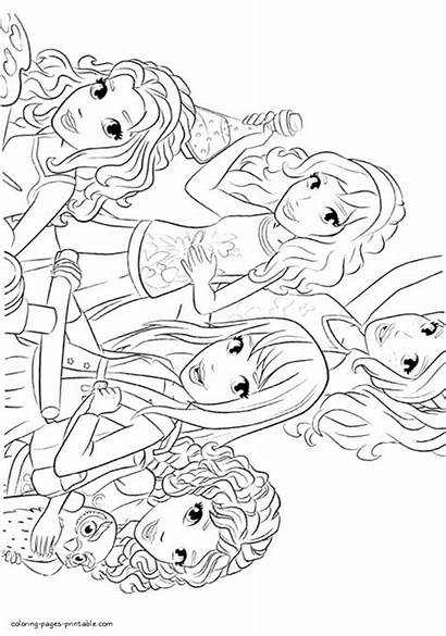 Lego Friends Coloring Pages Printable Sheets Dolls