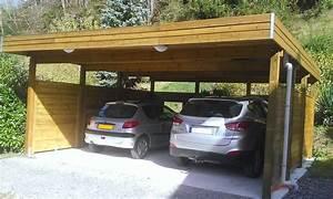 Carport 3 voitures bois for Nice abri de jardin bois pas cher leroy merlin 2 carport 3 voitures bois