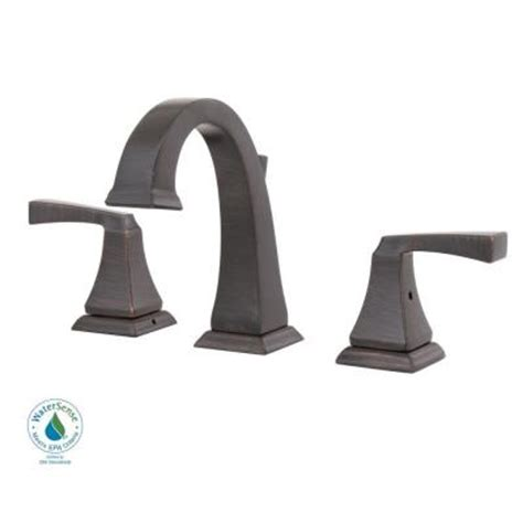 delta dryden faucet rubbed bronze delta dryden 8 in widespread 2 handle high arc bathroom
