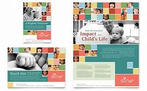 Non profit association for children flyer ad template design for Non profit brochure template