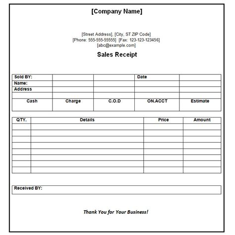 Receipts Template Payment Receipt Template 10 Free Word Excel Template