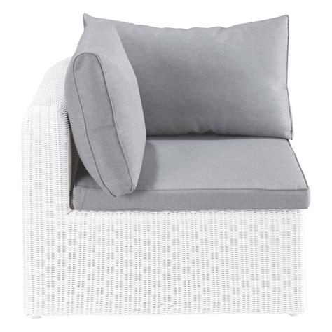 canapé en résine tressée angle de canapé de jardin en résine tressée blanc mykonos