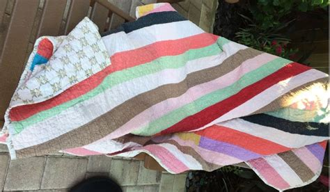 Price Reduced!!! Vintage Handmade Quilt Various Colored