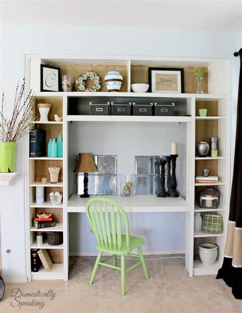 office desk with bookcase and shelving remodelaholic ikea bookcase to built in desk nook hack