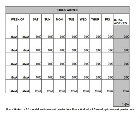 monthly timesheet template excel printable year calendar