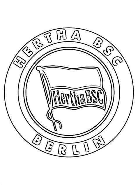 dibujos de escudo hertha bsc berlin dibujos  colorear