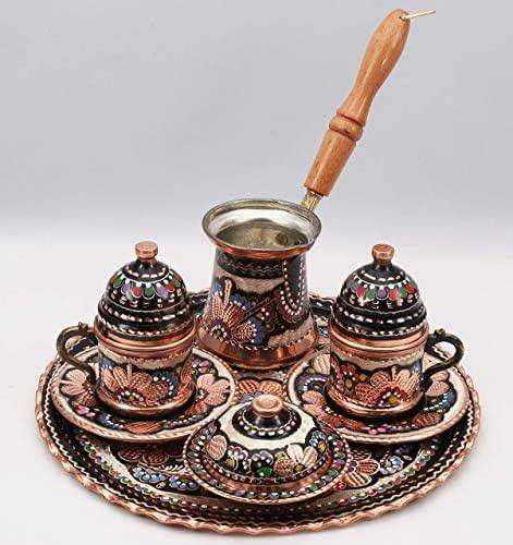 Engraved copper cup with lid engraved copper saucer porcelain insert also show details. Amazon.com: Traditional Design Handmade Engraved Copper Turkish Armenian Arabic Greek Coffee Set ...