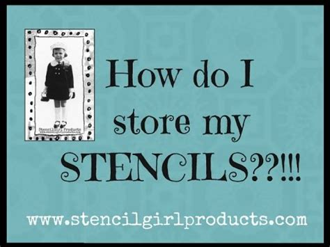 Stencilgirl Shows How To Store Your Stencils Youtube