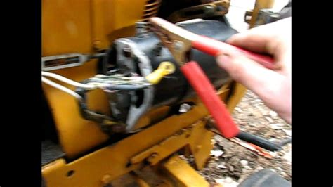 cub cadet starter generator test youtube
