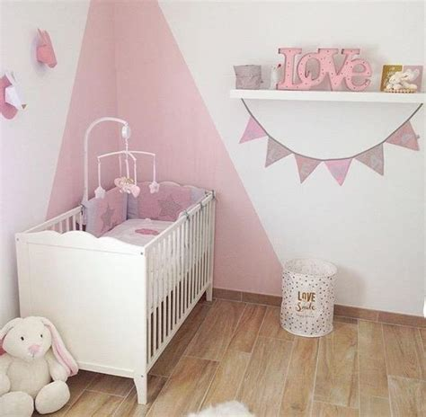 deco chambre bebe fille rose  taupe