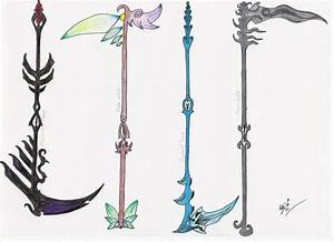 Elemental Scythes by MadMother88 on DeviantArt
