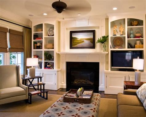 Built In Bookcase Around Fireplace by Built Ins Around Fireplace Houzz