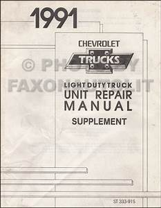 1991 Chevy Astro Van Wiring Diagram Manual Original