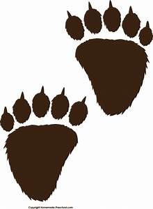 grizzly bear paw print clipart best With bear footprints template