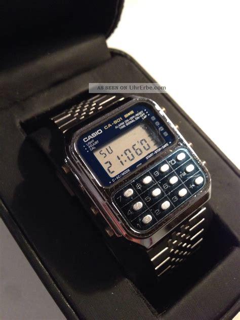 Casio Uhr Gold Herren 2423 by Neu Casio Uhr Gold Mit Taschenrechner Website