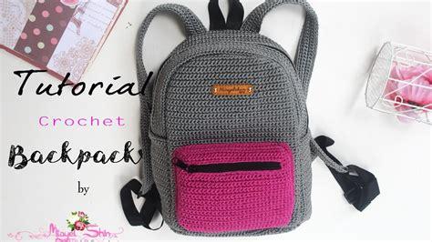 tas rajut tutorial crochet backpack ransel rajut