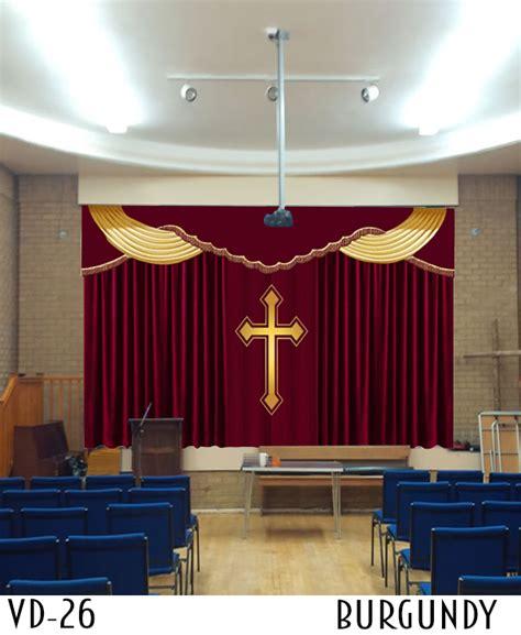 church curtains decoration stage curtain