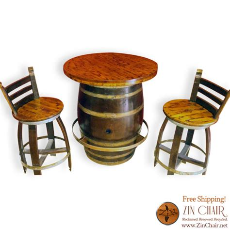 our oak lazy zin pub table wine barrel furniture wine barrel chairs