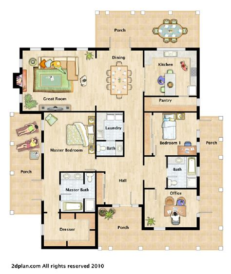 house layout house furnished floor plan illustrations