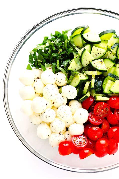 cucumber caprese salad  pasta salad gimme  oven