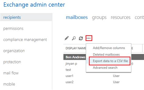 Office 365 Mail Export by Export Office 365 Users To Csv Without Using