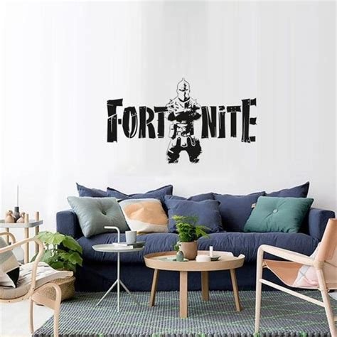 black fortress night fortnite game wall stickers metallic
