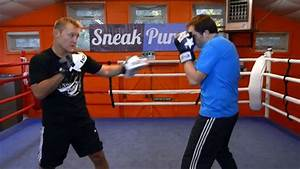 Boxing Pad Work Drills - How to Box (Quick Videos) - Learn ...
