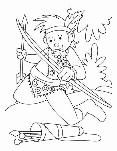 Coloring Archery Pages Arrow Sheets Bow Collecting