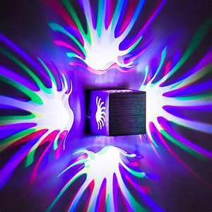 Led Deckenleuchte Rgb : 3w rgb led deckenleuchte quadrat wandleuchte wandlampe deckenlampe fernbedienung ebay ~ Watch28wear.com Haus und Dekorationen