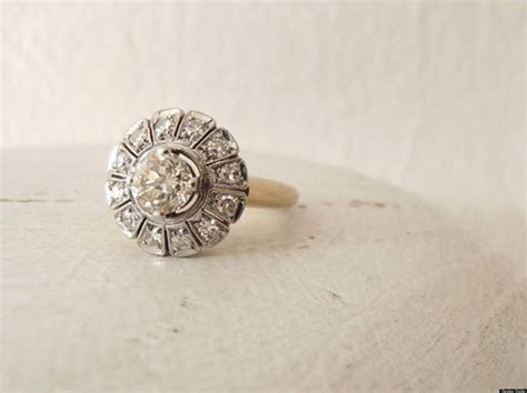 Vintage Engagement Rings To Suit Every Indie Bride (photos