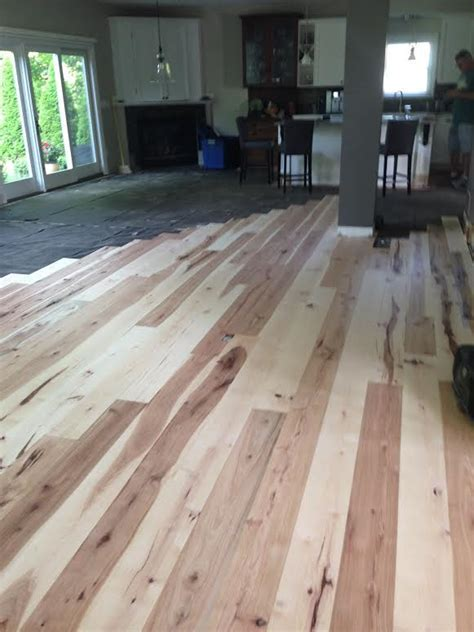 5 Inch Unfinished Solid Hickory Flooring   Long Length