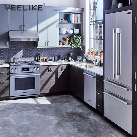 kitchen pvc  adhesive wallpaper silver stainless steel