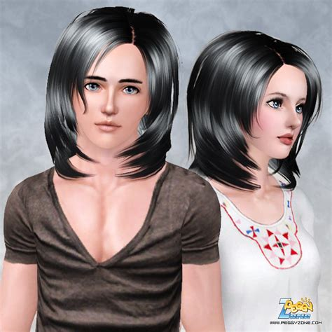 hair styles the sims 3 below chin bob hairstyle id 493 by peggy zone 8252