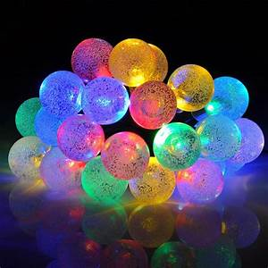 Solar Party String Lights Mpow Solar Outdoor String Lights 20ft 30 Led Multi Color