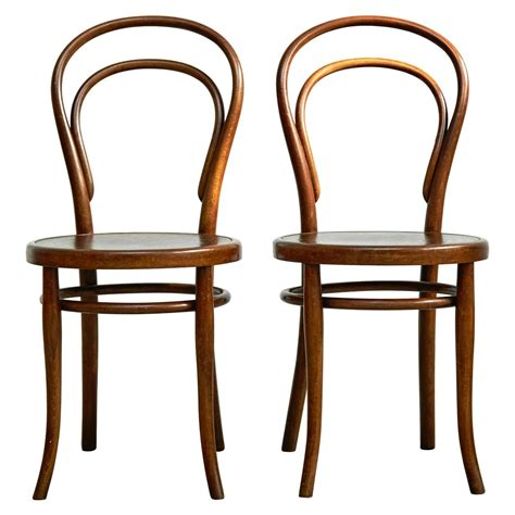 pair of chairs by august thonet for thonet circa 1900 for
