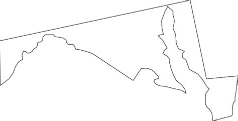 Welcome to our svg map directory! Maryland Outline Clip Art at Clker.com - vector clip art ...