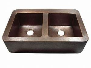 yosemite home decor css1551h 34 inch hammered double bowl With 34 inch farmhouse sink