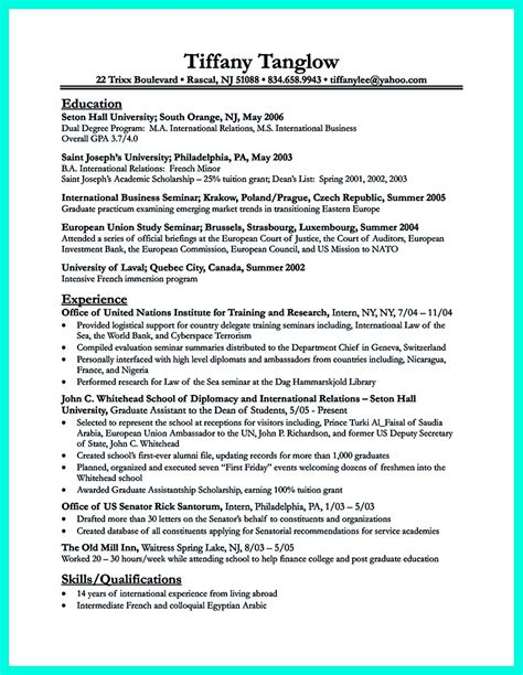 best college student resume exle to get instantly