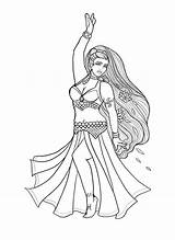 Belly Coloring Pisces Dancer Lacychenault sketch template
