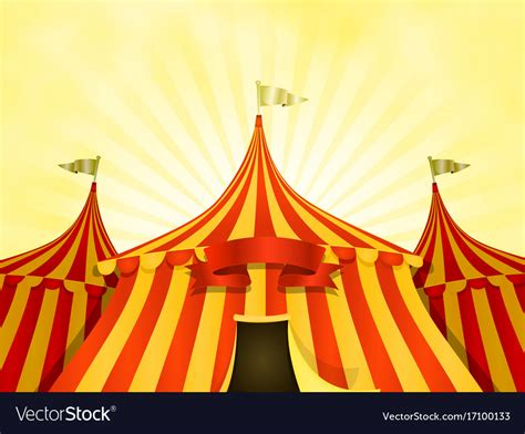 Top Vector Backgrounds by Big Top Circus Background With Banner Royalty Free Vector