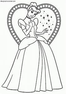 Dibujos Sin Colorear Dibujos De Cenicienta Princesa Disney Para Colorear