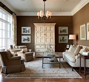 Enchanting wall art on best interior paint color inside for Brown paint colors for living room