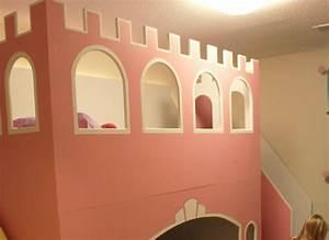 Lit Superposé Princesse : photos un vrai lit de princesse pour ses filles ~ Teatrodelosmanantiales.com Idées de Décoration