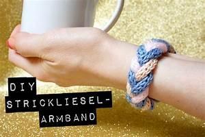 DiY Strickliesel Armband Orangenmondat Strickliesel