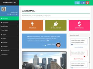 advance admin free website template free css templates